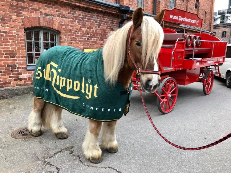 Sinebrychoff's brewery horses Ludvig