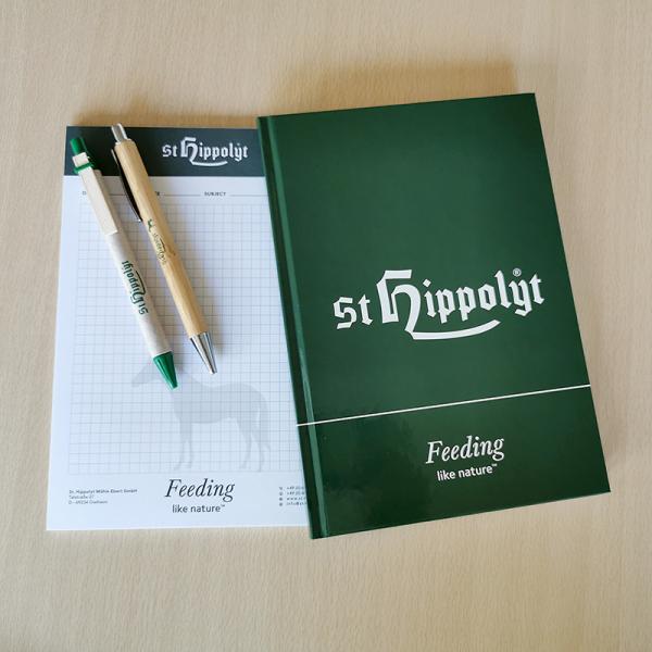 St. Hippolyt Notesbog-blok-kuglepenne
